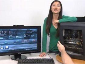 美女组装i7独显高端水冷游戏主机视频教程
