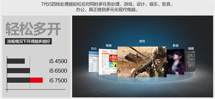 i5 7500 CPU 多任务同时运行