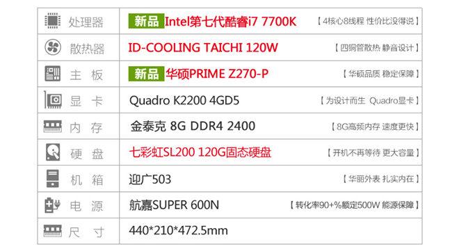8000多元电商美工平面设计主机配置清单